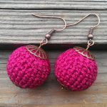 Crochet Sphere Pattern Life In Colour Crochet Red Ball Earrings