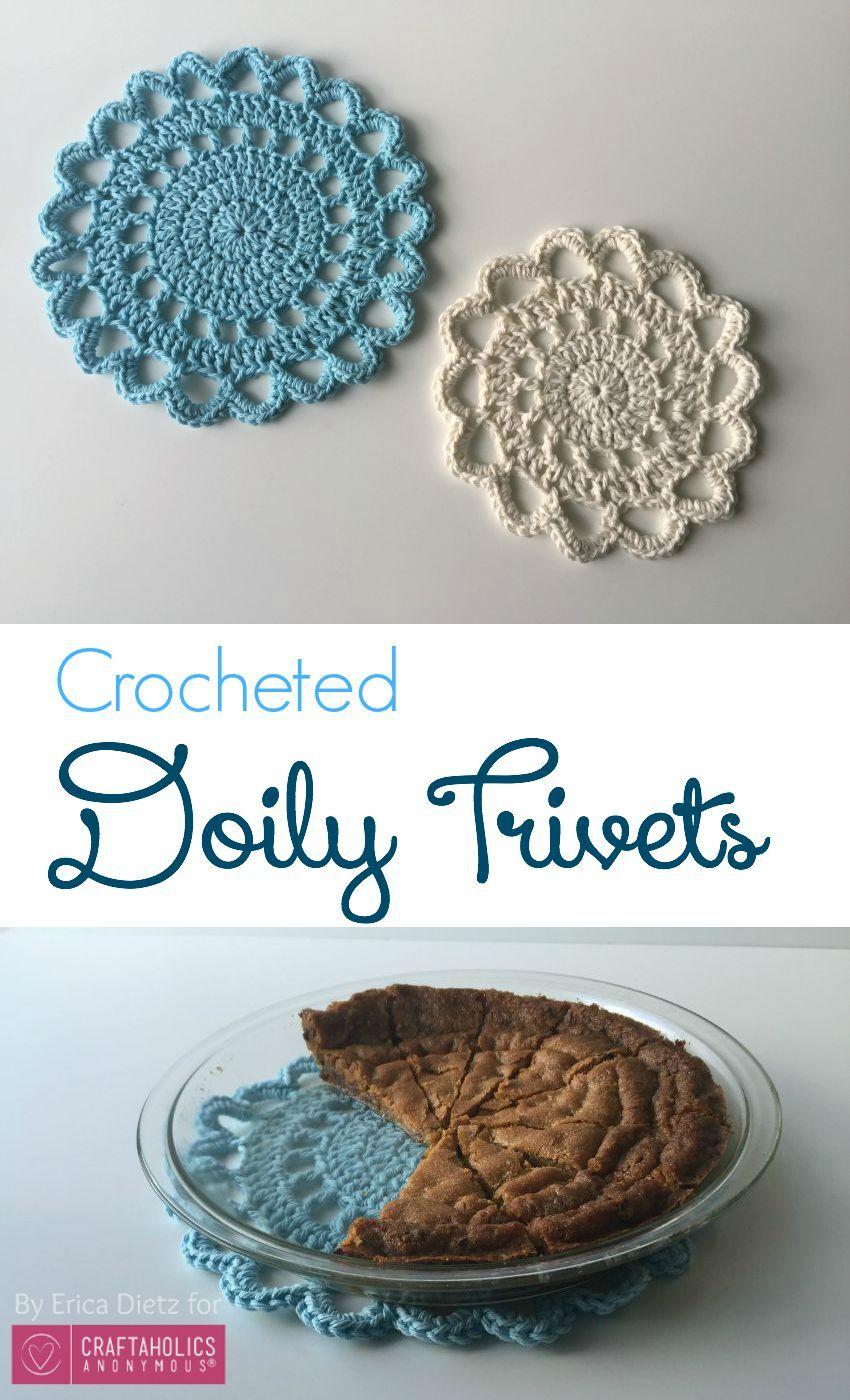 Crochet Trivets Free Pattern Crochet Doily Trivets For The Home Pinterest Crochet Crochet