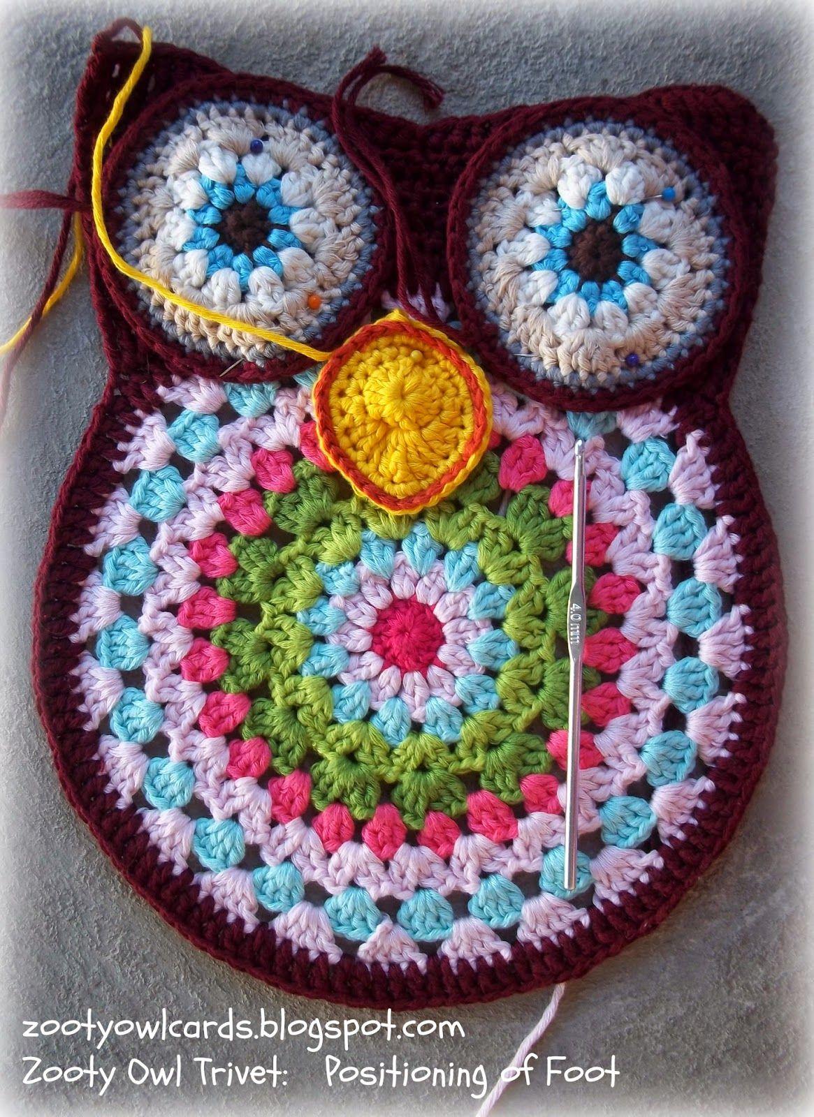 Crochet Trivets Free Pattern Crochet Owl Trivets Bringing Back Grandma Crochet Love