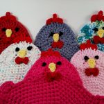 Crochet Trivets Free Pattern Crochet Pattern For The Swanky Chicken Trivet Potholder Pdf Etsy