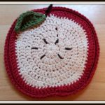 Crochet Trivets Free Pattern Double Treble Craft Adventures Crochet Apple Trivet Free Pattern