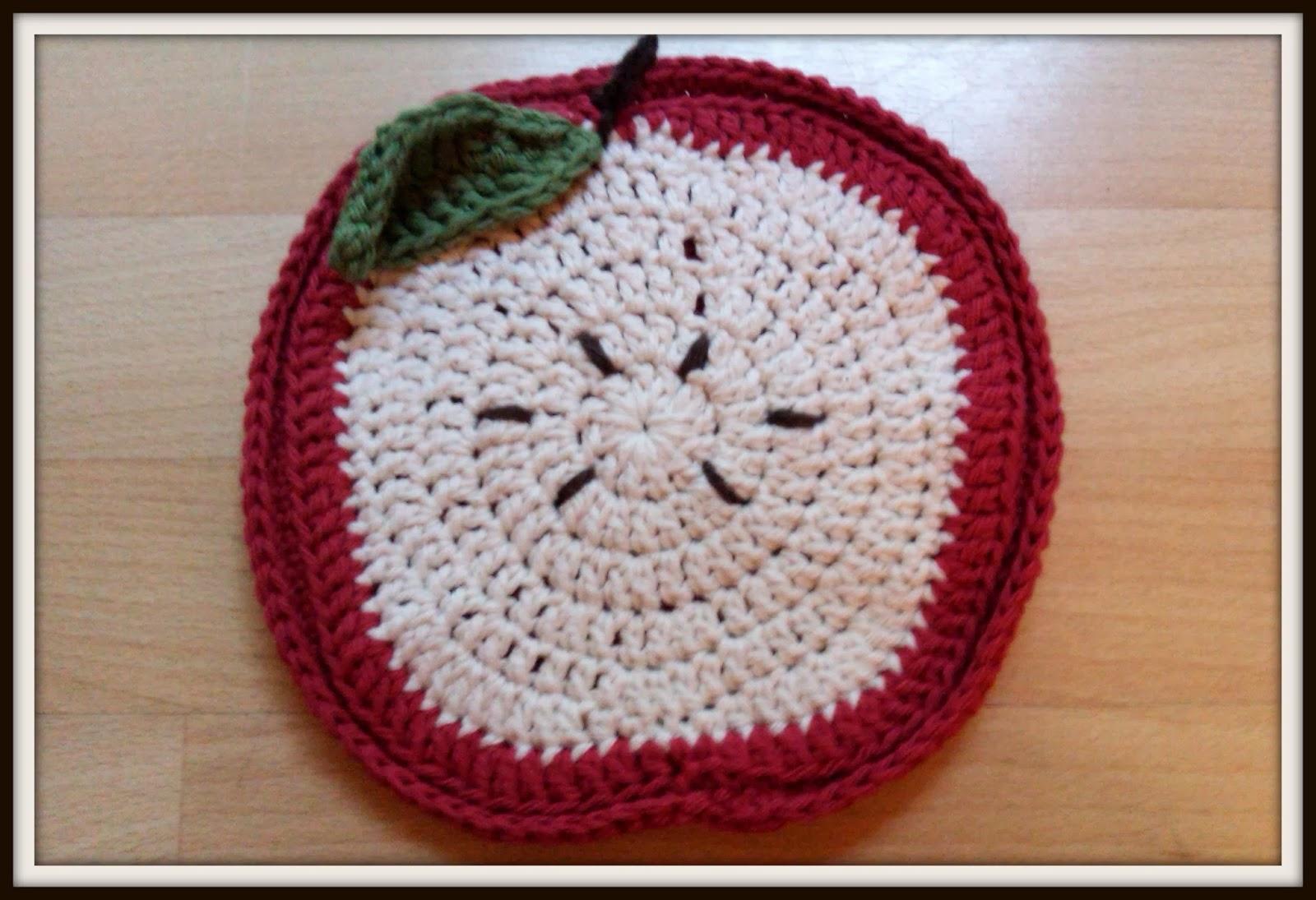 Crochet Trivets Free Pattern Double Treble Craft Adventures Crochet Apple Trivet Free Pattern