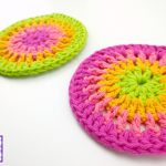 Crochet Trivets Free Pattern Fiber Flux Free Crochet Pattern Simply Cheerful Trivets