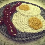 Crochet Trivets Free Pattern Free Eggs Bacon Potholder Crochet Pattern Book People Studio