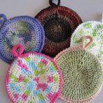 Crochet Trivets Hot Pads Circular Potholders The Caped Crocheter