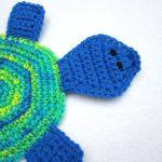 Crochet Trivets Hot Pads Crocheted Charlene Turtle Pot Holder Hot Pad Crochet Trivet