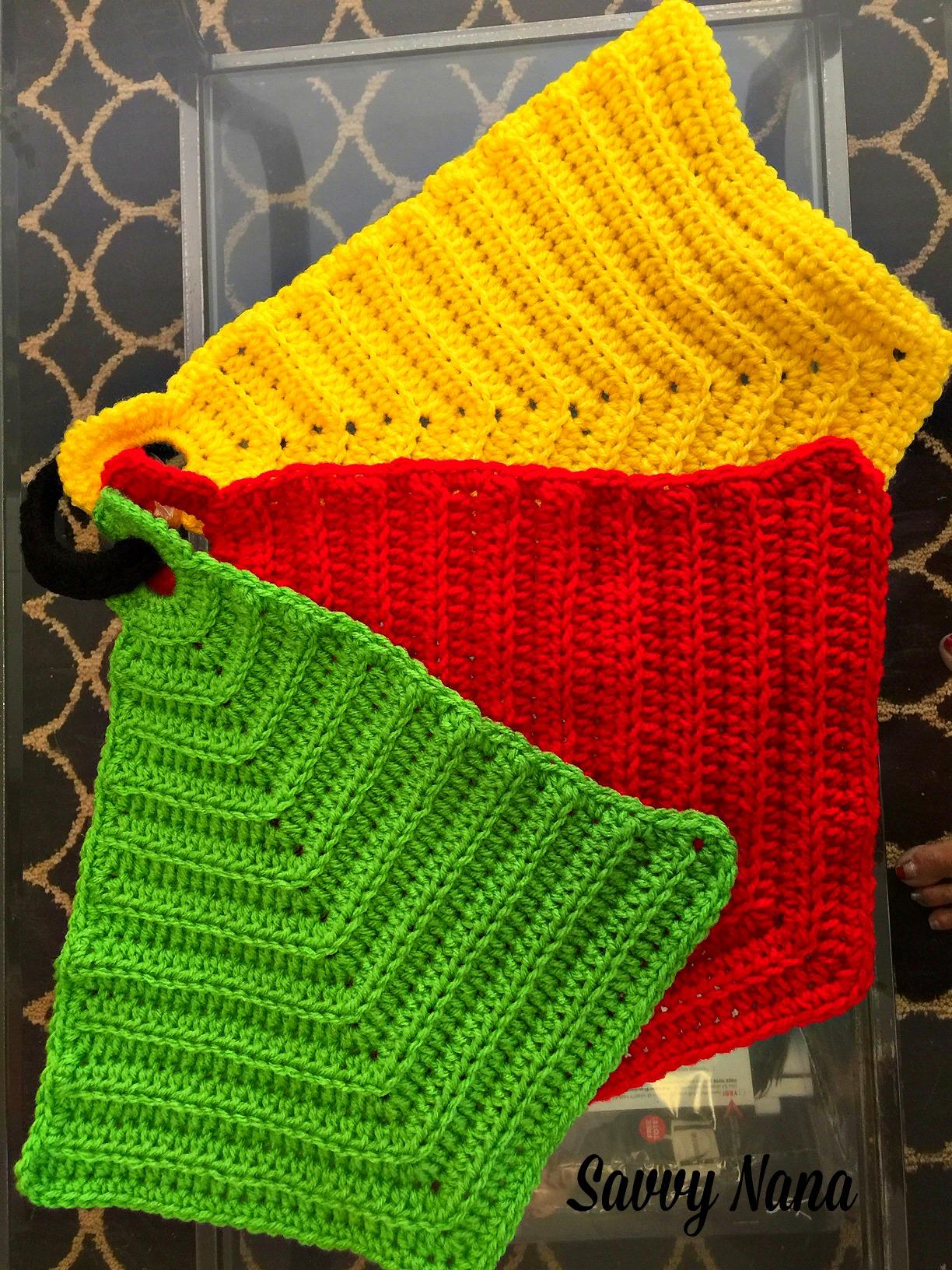 Crochet Trivets Hot Pads Crocheted Kitchen Hot Pads Free Crochet Pattern Savvy Nana