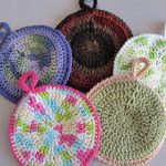 Crochet Trivets Hot Pads Free Pattern Circular Potholders The Caped Crocheter