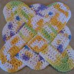 Crochet Trivets Hot Pads Hooked On Needles Crocheted Cotton Pot Holder Trivet Or Hot Pad