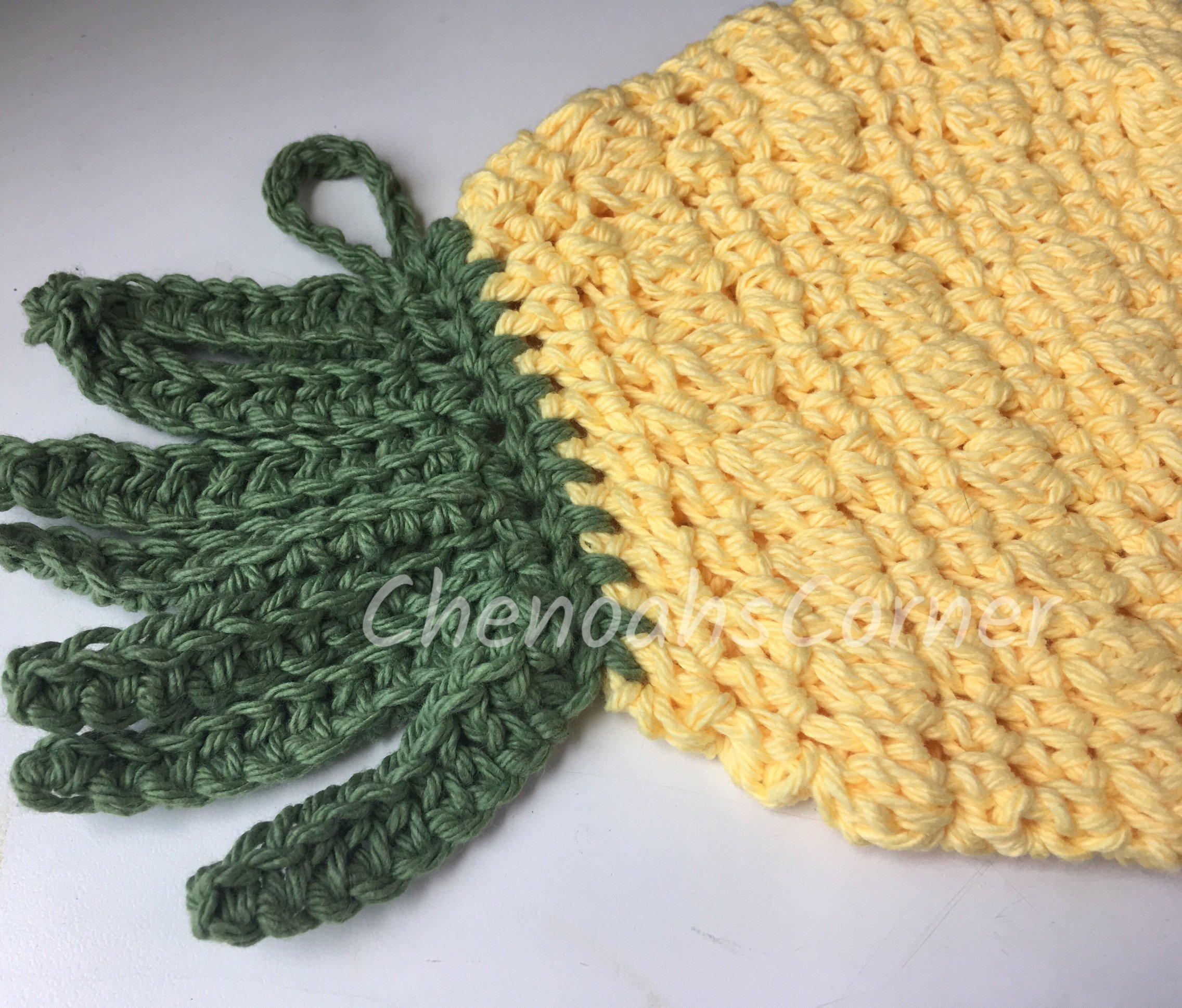 Crochet Trivets Hot Pads Pineapple Trivet Crochet Trivet Pineapple Hot Pad Crochet Etsy