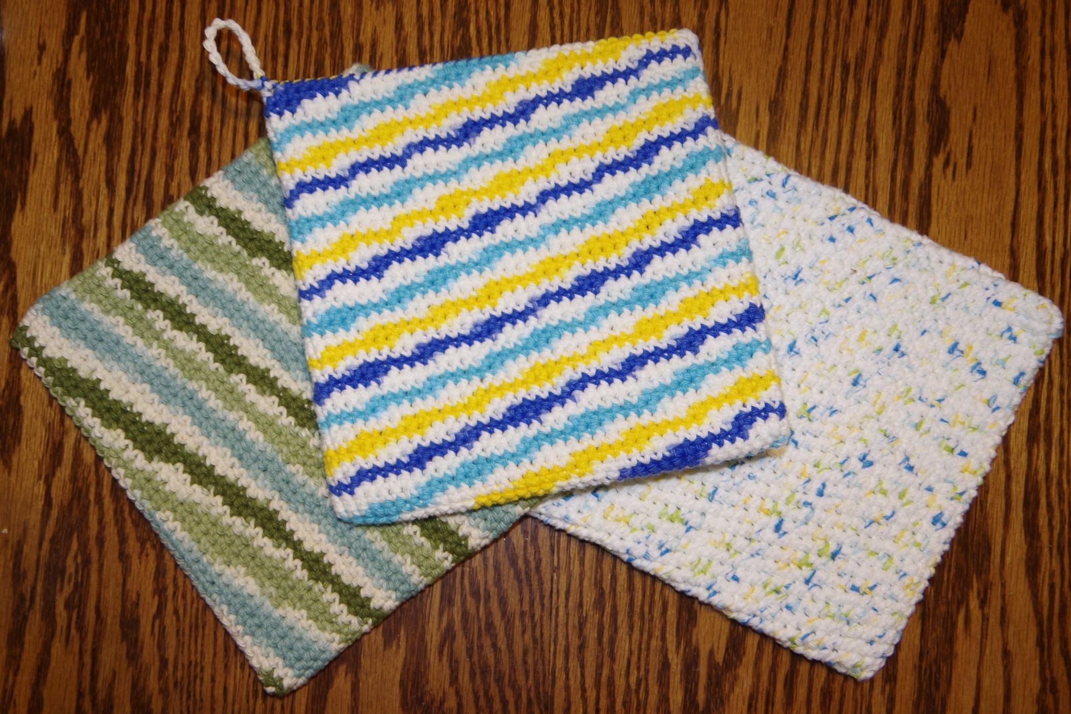 Crochet Trivets Hot Pads Pot Holders Double Thick Potholder Free Crochet Pattern Yay For Yarn