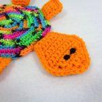 Crochet Trivets Hot Pads Turtle Pot Holder Neon Orange Turtle Hot Pad Trivet Multicolored