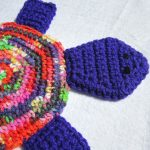 Crochet Trivets Hot Pads Turtle Pot Holder Turtle Hot Pad Trivet Purple And Colorful