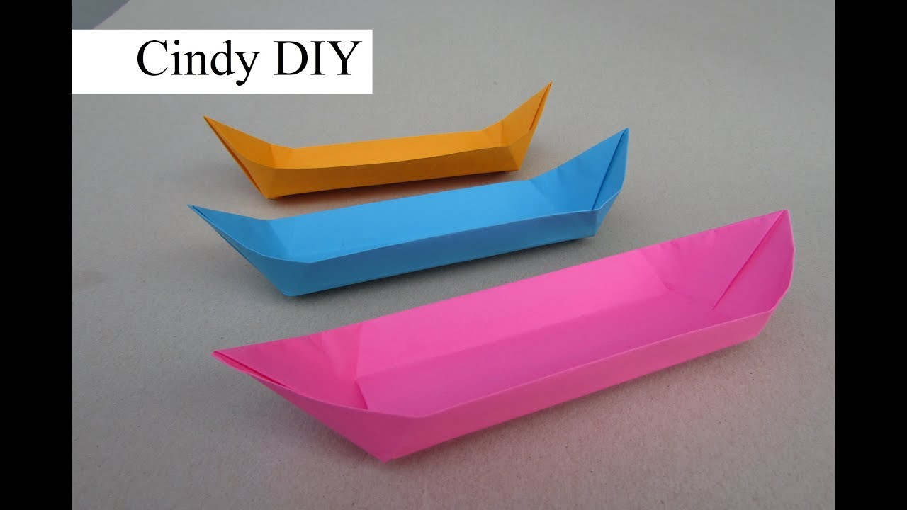 Diy Origami Easy Boat Origami Easy Tutorial Craft For Kids Cindy Diy World Of