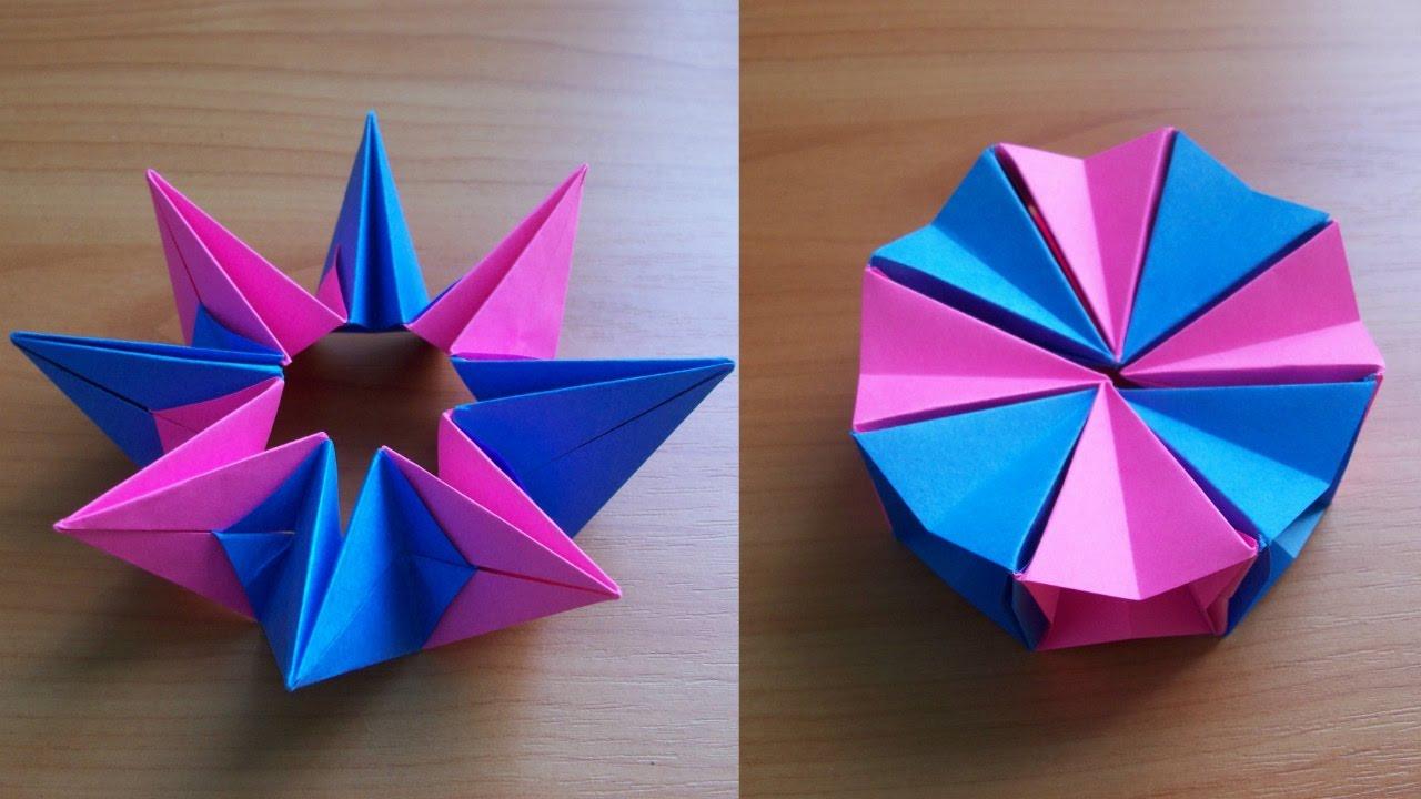 Diy Origami Easy Diy How To Fold An Easy Origami Magic Circle Fireworks Fun Paper