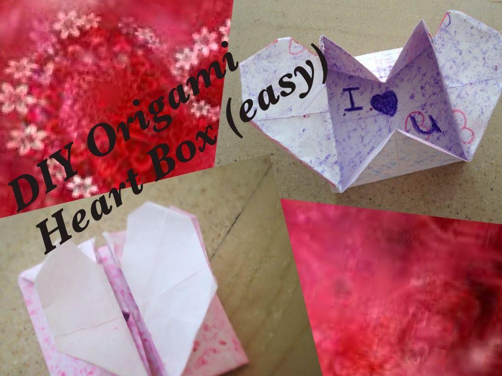 Diy Origami Easy Diy Origami Heart Box Secret Message Easy 15 Steps