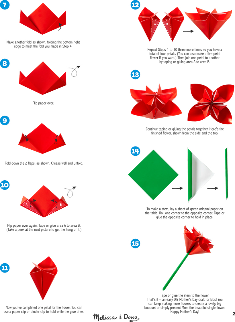 Diy Origami Easy Diy Origami Paper Flower For Mothers Day Melissa Doug Blog