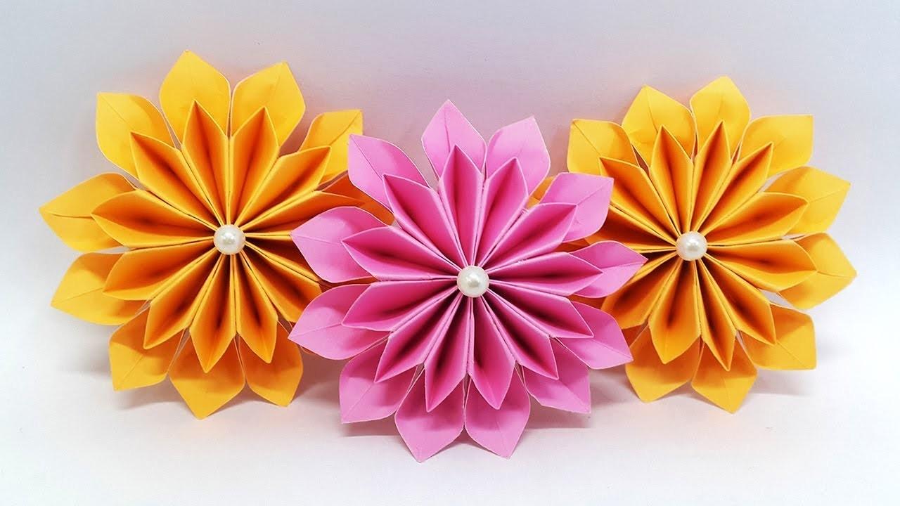 Diy Origami Easy Diy Paper Flowers Easy Making Tutorial Origami Flower Paper