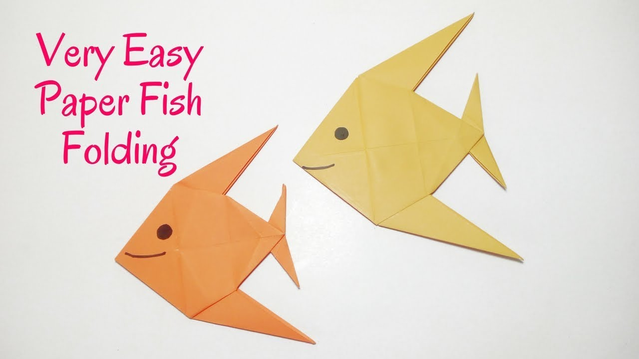 Diy Origami Easy Easy Origami Fish How To Make A Paper Fish Diy Origami Easy