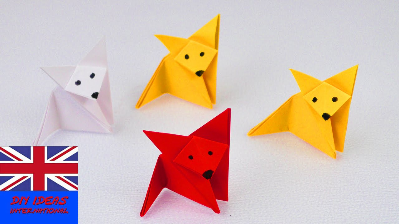 Diy Origami Easy How To Make An Origami Fox Super Easy Super Cute Paper Ideas