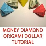 Diy Origami Easy Money Diamond Origami Dollar Tutorial Colored Diy Decoration Simple