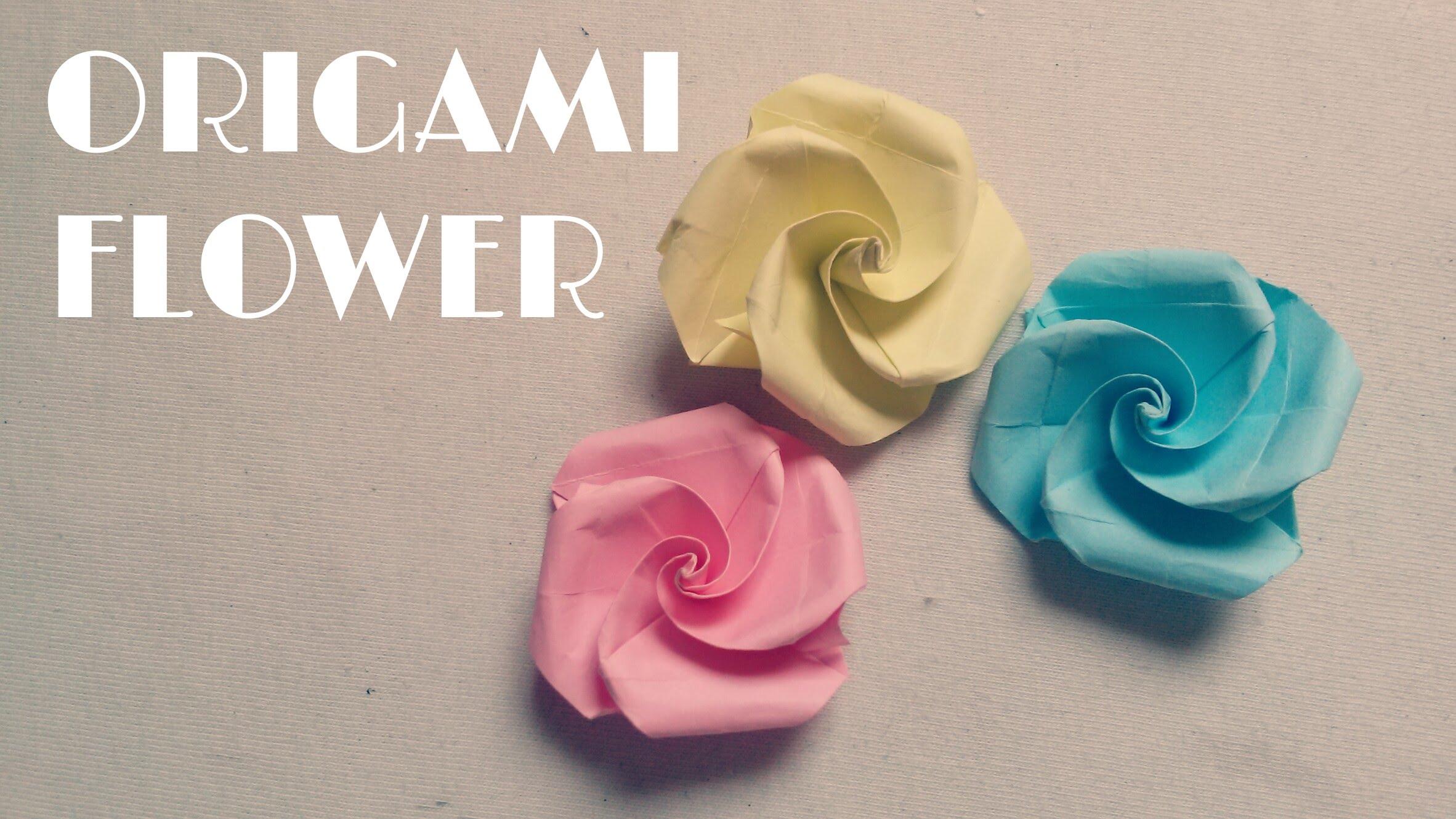 Diy Origami Easy Origami Easy Origami Flower Tutorial Youtube
