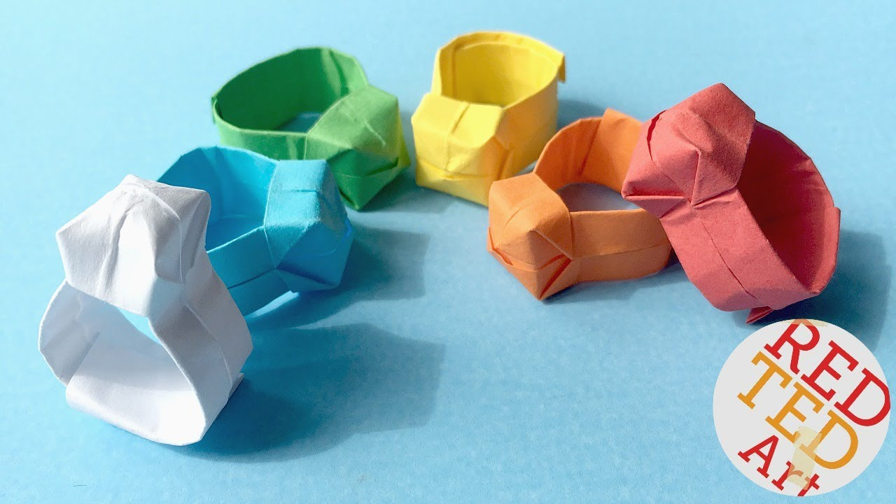 Diy Origami Easy Origami Ring Diy Easy Paper Ring Youtube