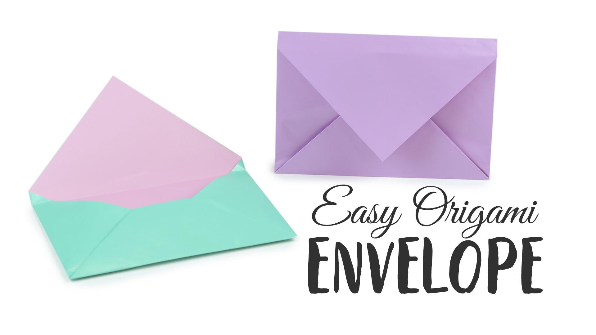 Diy Origami Easy Super Easy Origami Envelope Tutorial Diy Paper Kawaii Youtube