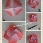 Diy Origami Flowers Aura Treasury Diy Valentines Origami Flowers