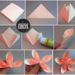 Diy Origami Flowers Origami How To Make An Easy Origami Flower Origami Instructi Card