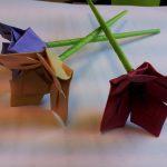 Diy Origami Flowers Paper Moon Tutorial Origami Flower
