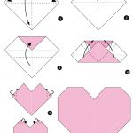 Diy Origami Heart Origami Heart Instructions Free Printable Papercraft Templates