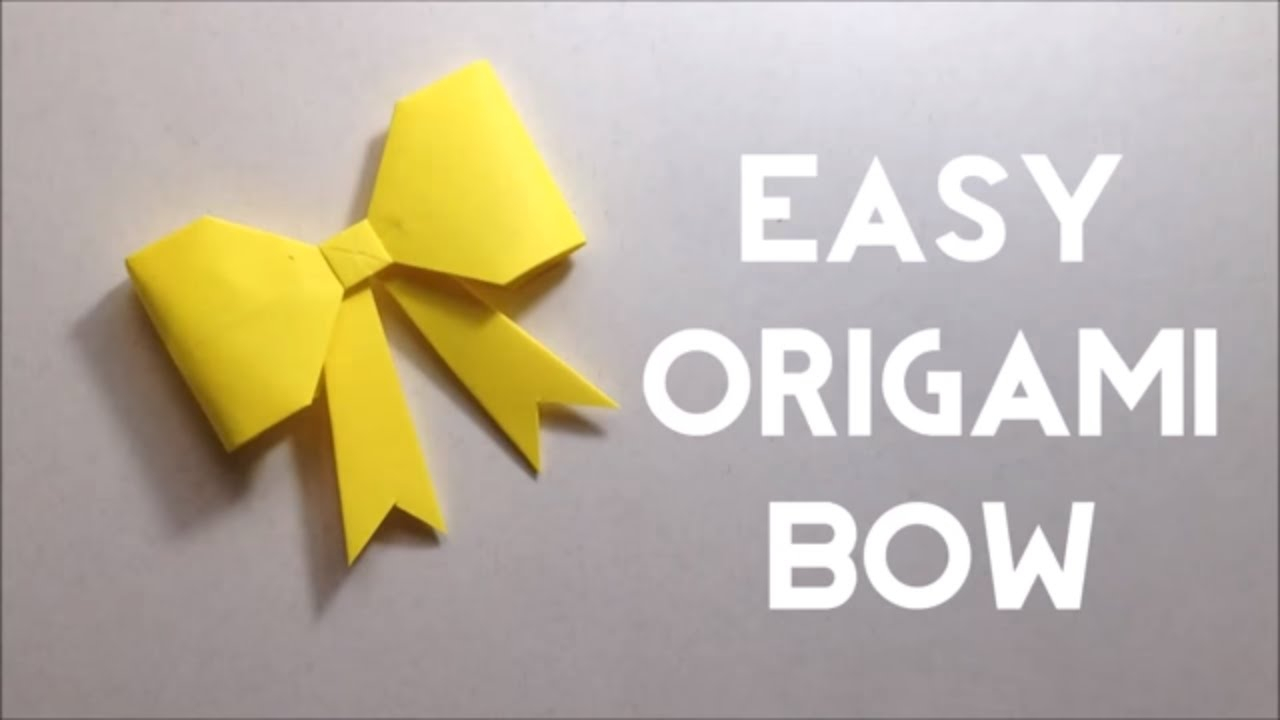 Diy Origami Step By Step Cute Paper Bow Origami Bow Tutorial Easy Steps For Beginners