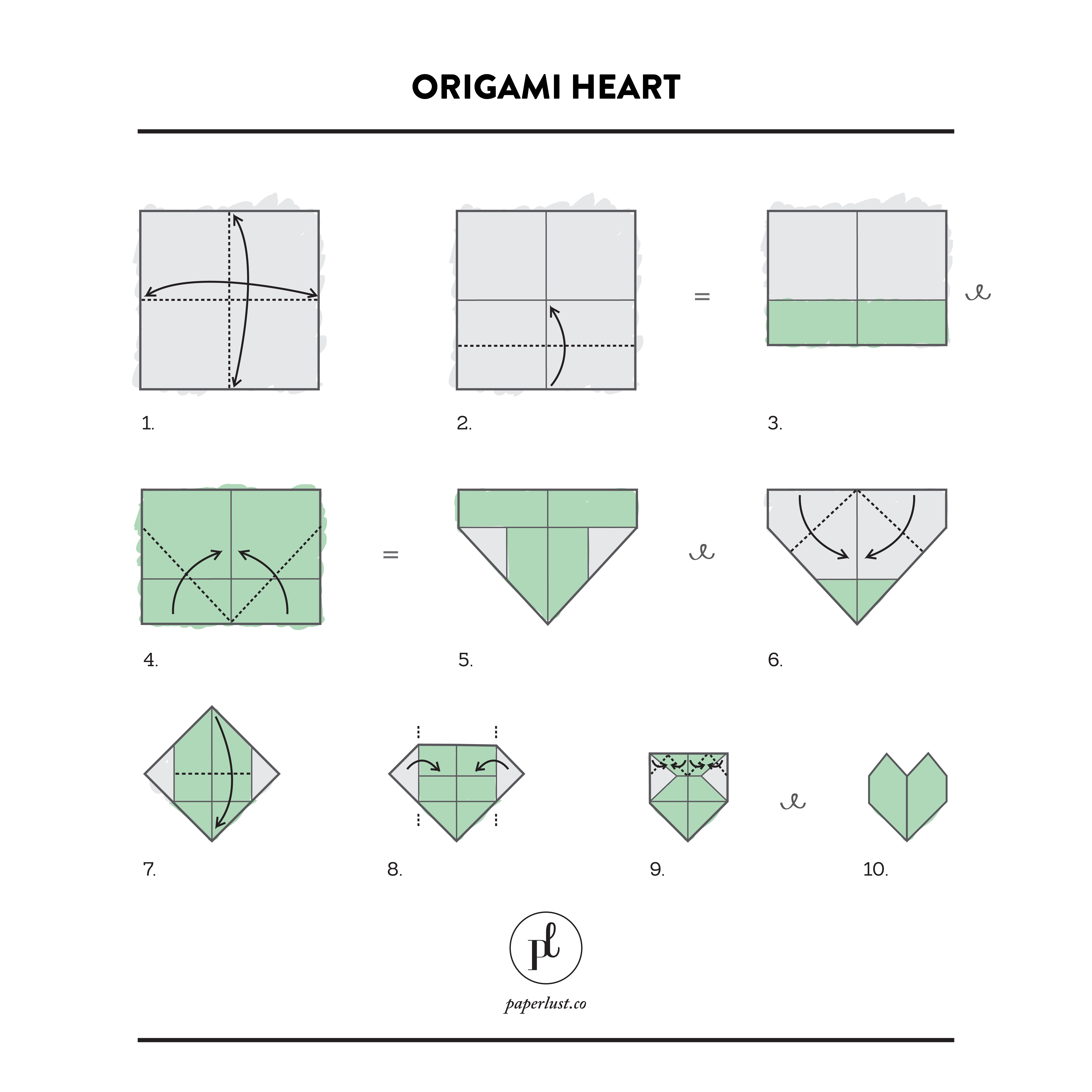 Diy Origami Step By Step Diy Origami Hearts For Valentines Day Paperlust