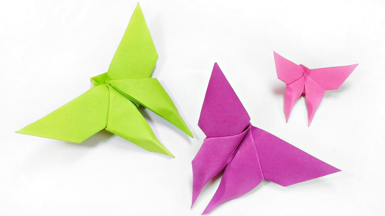 Diy Origami Step By Step How To Make Paper Origami Butterfly Easy Step Step For Kids For