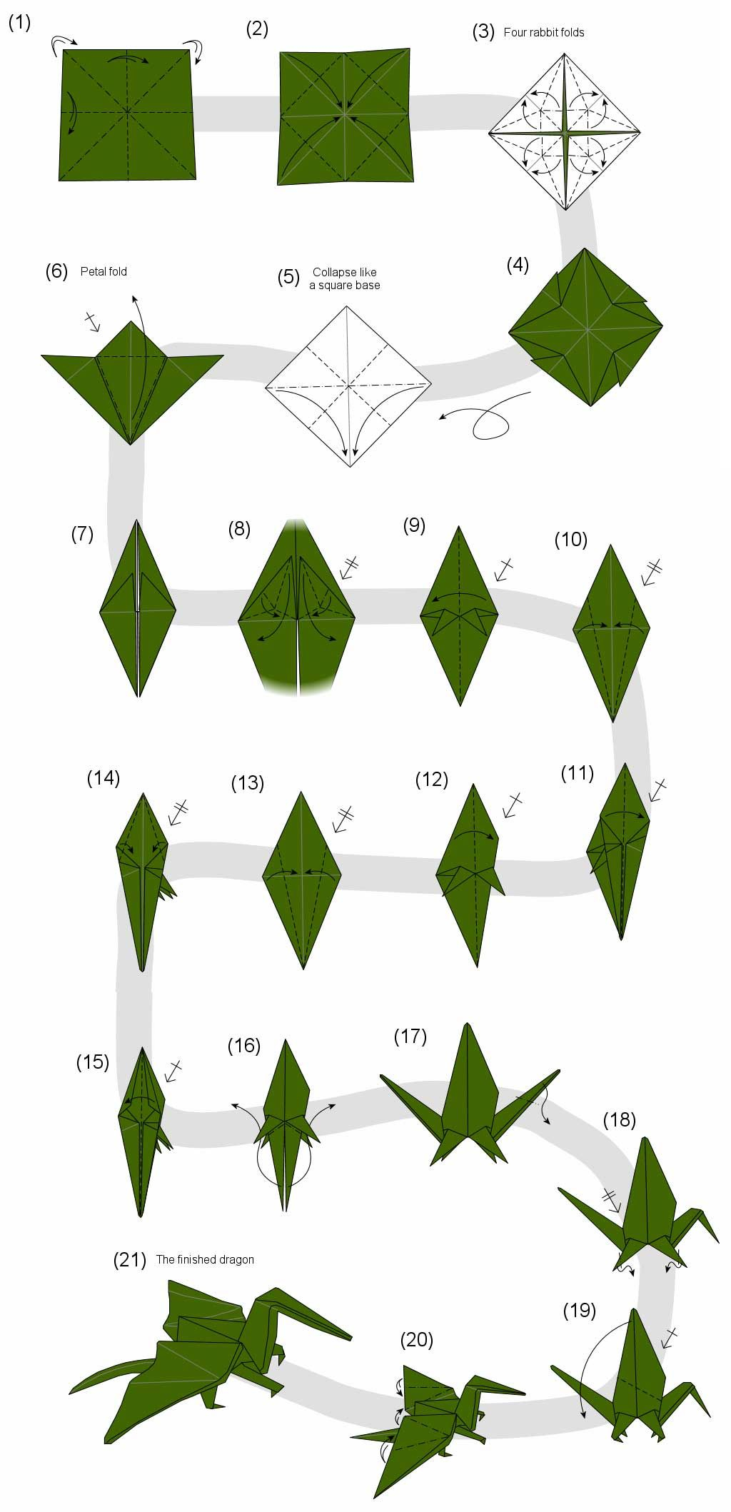 Diy Origami Step By Step Pin Eri On Paper Cranes Pinterest Origami Origami Dragon And