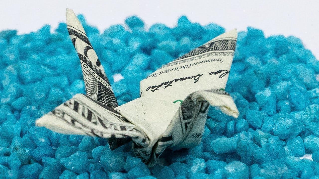 Dollar Bill Origami Dollar Bill Origami Crane Bird Money Folding Tutorial Youtube