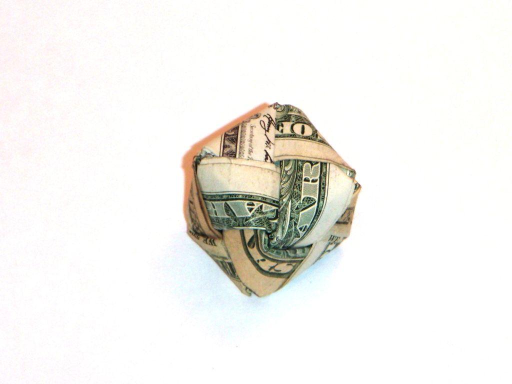 Dollar Bill Origami Dollar Bill Origami Cube 5 Steps