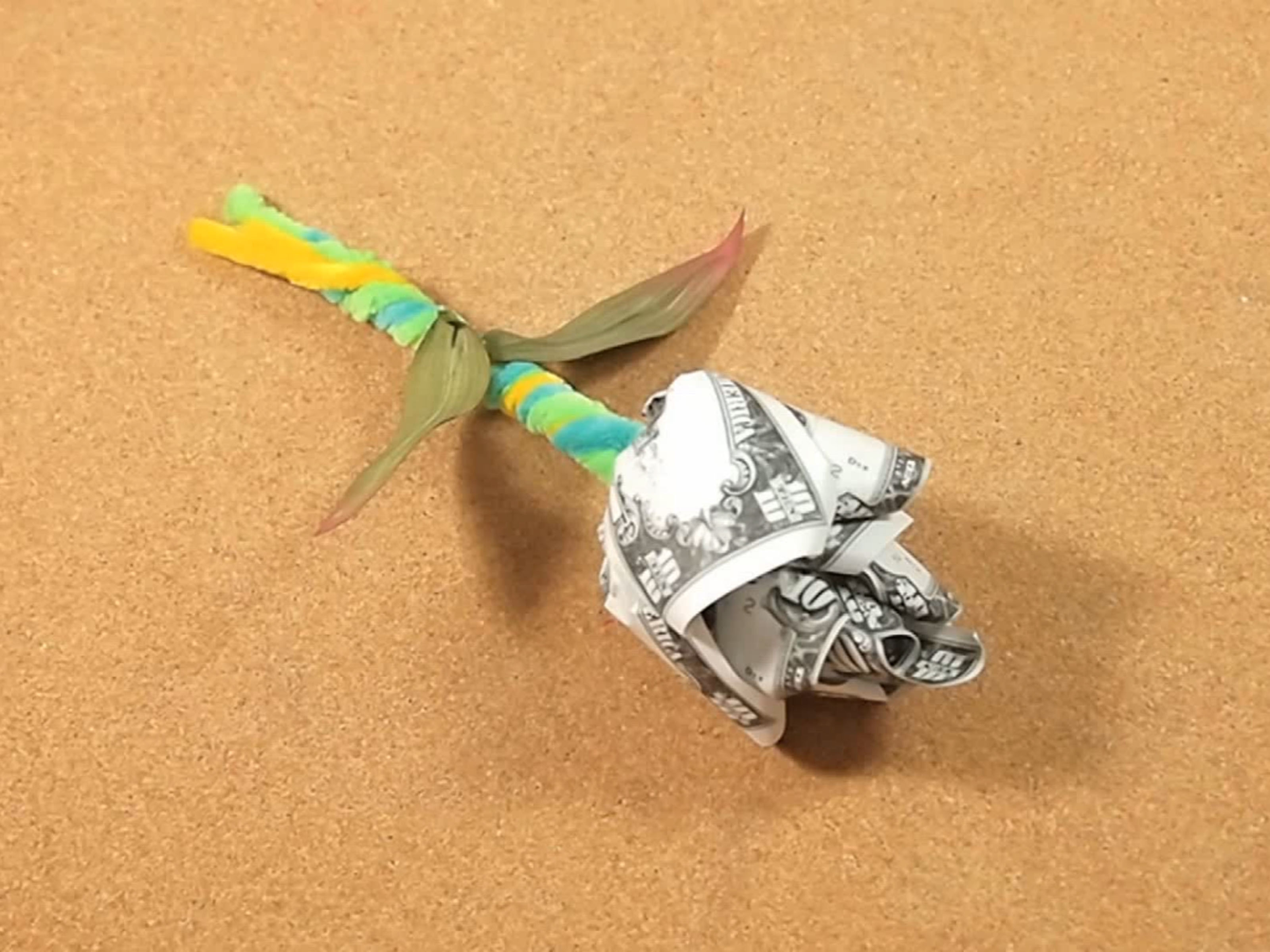 Dollar Bill Origami How To Make A Dollar Bill Rose 7 Steps With Pictures Wikihow