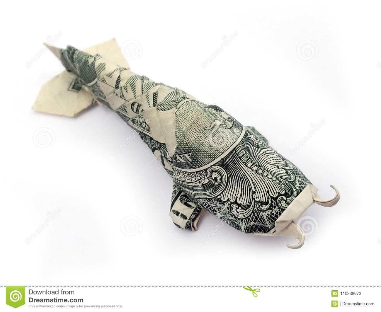 Dollar Bill Origami Koi Fish Money Origami Dollar Bill Art Animal Stockbild Bild Von