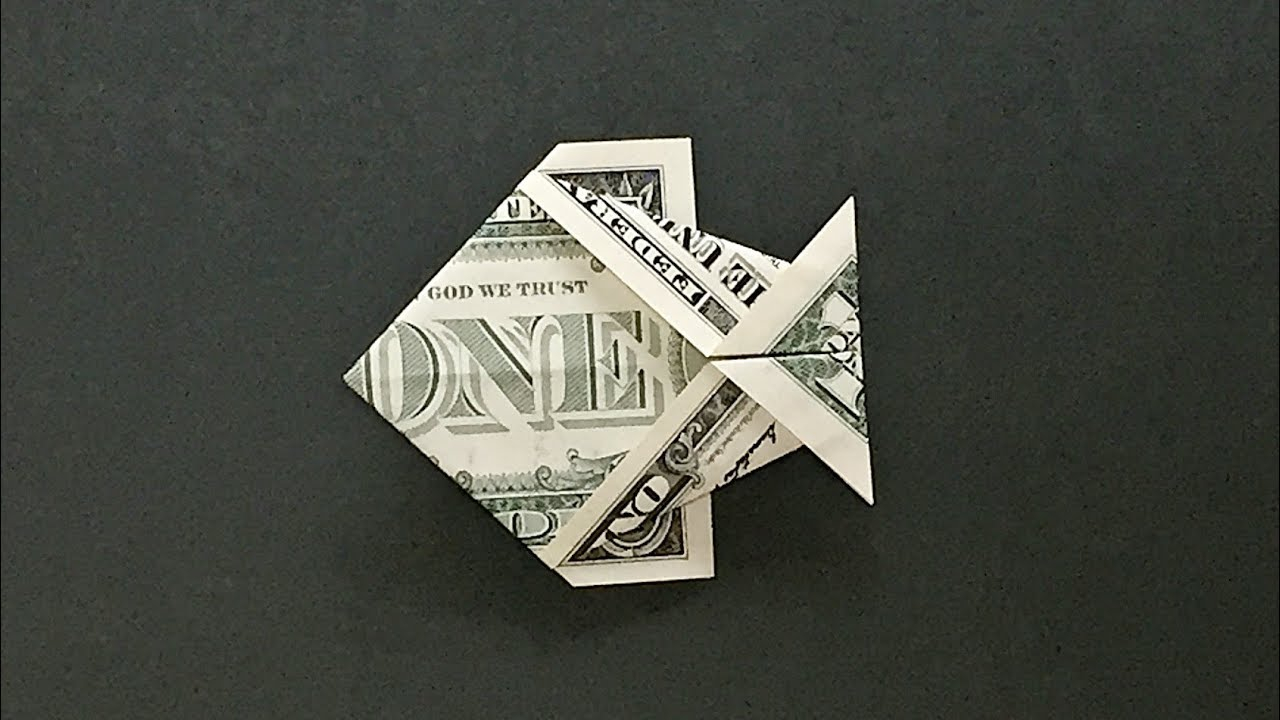 Dollar Bill Origami Money Origami Fish Instructions How To Fold A Dollar Bill Fish