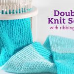 Double Knitting Tutorial Scarfs Double Knit Scarf Knit On Rotating Double Knit Loom Youtube