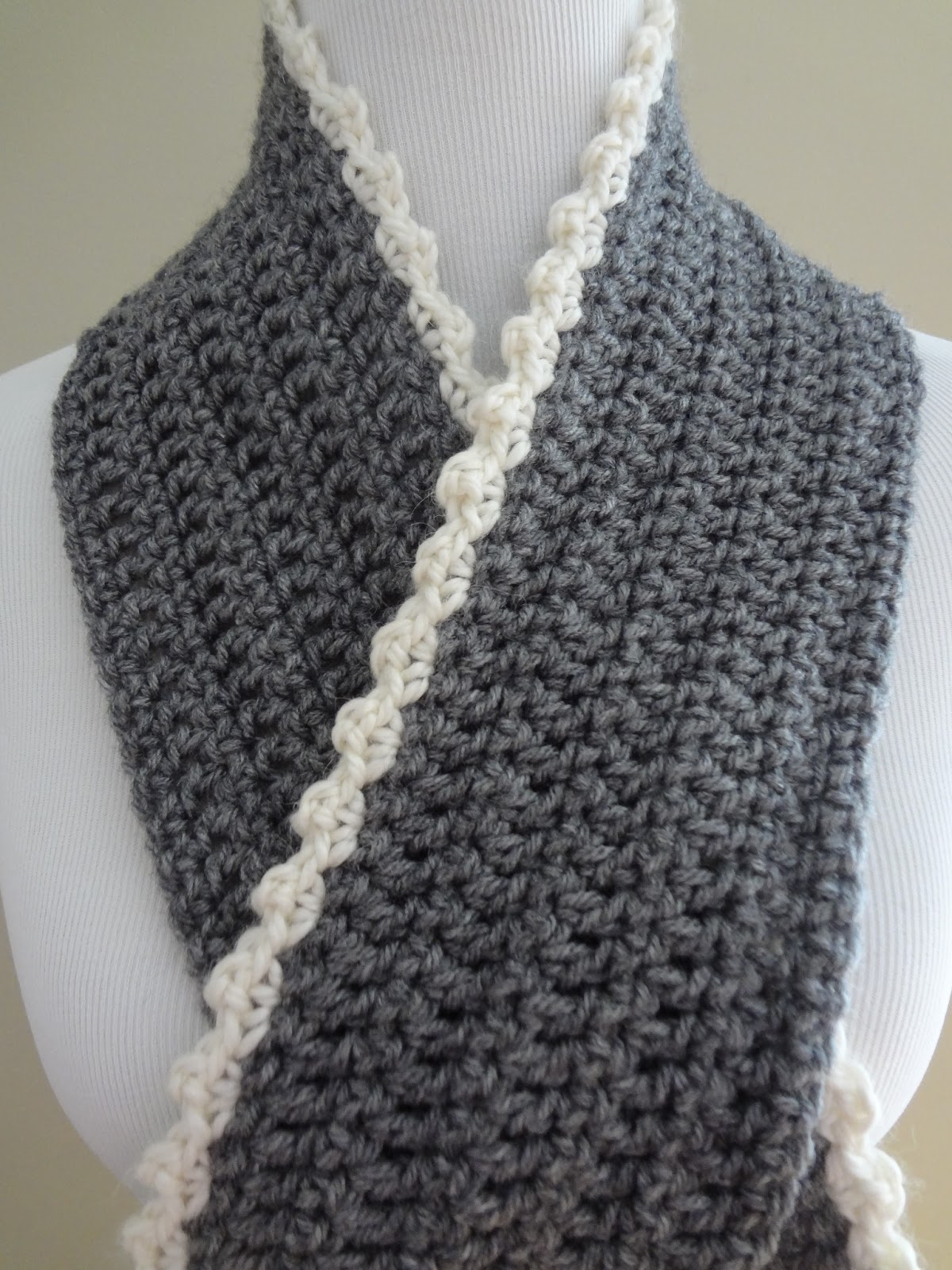 Double Knitting Tutorial Scarfs Fiber Flux Free Crochet Patterningrid Scarf