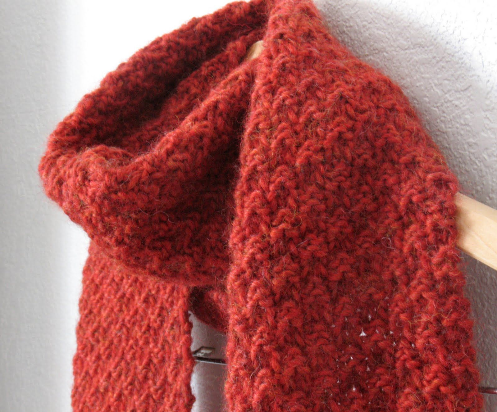 Double Knitting Tutorial Scarfs Hachi Free Knitting Patterns Double Seed Stitch Scarf Knitting