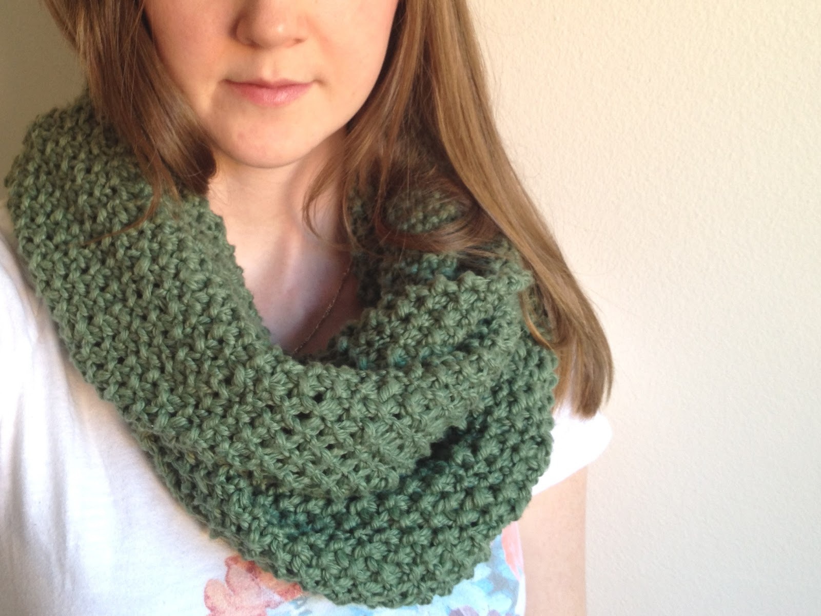 Double Knitting Tutorial Scarfs Tinselmint Free Infinity Scarf Pattern For Beginners