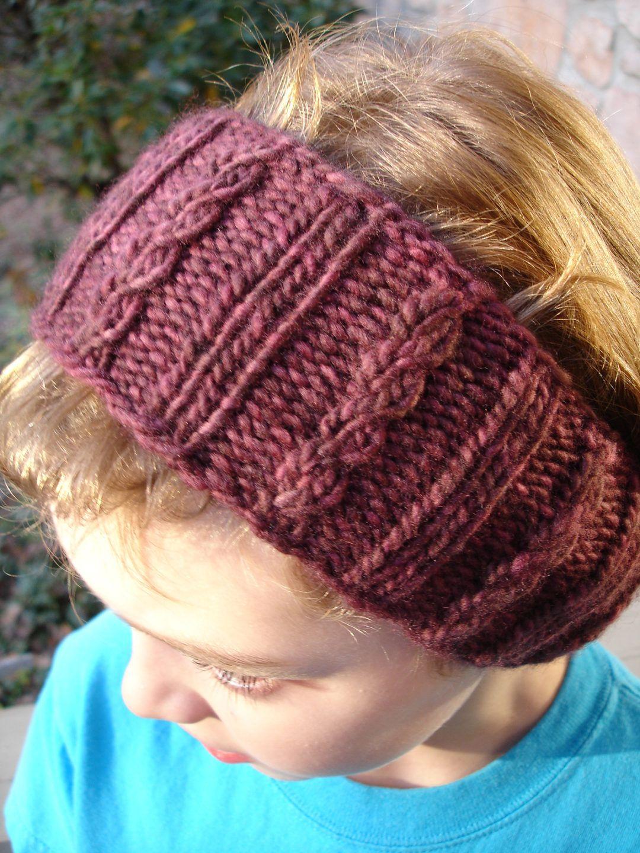 Earwarmer Knitting Patterns Ear Warmers Free Knitting Pattern For Mock Cable Ear Warmer