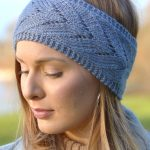 Earwarmer Knitting Patterns Free Knitting Pattern For Chevron Lace Headband Quick And Easy Ear