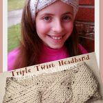 Earwarmer Knitting Patterns Free Lace And Whimsy Triple Twist Headband Ear Warmer Tunisian Knit