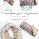 Earwarmer Knitting Patterns Free Oatmeal Cookie Headband Earwarmer Free Crochet Pattern The
