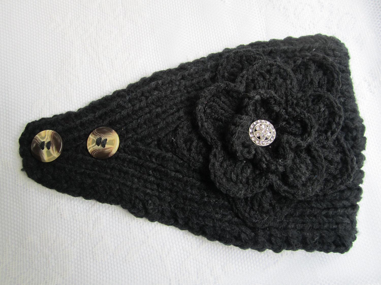 Earwarmer Knitting Patterns Head Bands Crochet Headband Ear Warmer Pattern With Button Closure Crochet